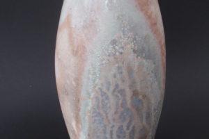 Porcelain vase with slip decoration