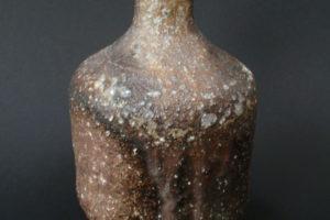 Steinzeug Sake-Flasche, grober Kaolin-Ton aus dem nördlichen Waldviertel