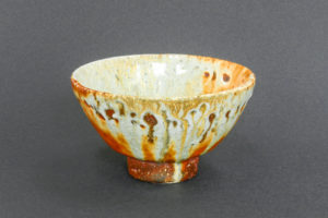 Tea bowl, white shino