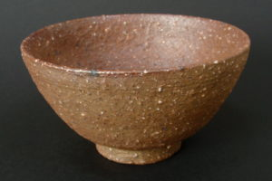 Sencha bowl – course clay from the Waldviertel (yakishime)