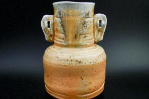 Stoneware eared vase
