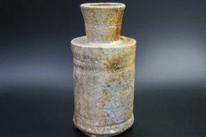 Flaschenvase, Reduktionsspuren, starker Ascheanflug